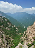 Panoramic view of National park Seoraksan, South Korea — Stock Photo