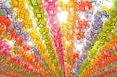 Korejské tradiční lampy v klášteře buddhistickými — Stock fotografie