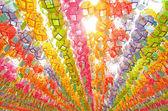 Lámparas tradicionales coreanas en monasterio de buddhistic — Foto de Stock
