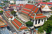 Roofs of Bangkok, Wat Arun, Thailand — Stock Photo
