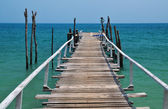 Wooden pier in the sea — Stock Photo