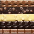 Assorted chocolate close-up — Stock Photo