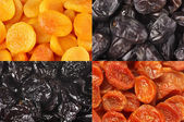 Set of dried fruits — Stock Photo