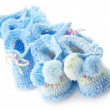 Various baby's bootees — Stock Photo