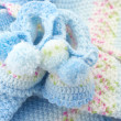 Baby's knitted clothes — Foto de stock #12804748