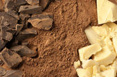 Chocolate ingredients — Stock Photo