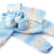 Foto de Stock  : Baby's knitted clothes