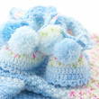Baby's knitted clothes - ストック写真
