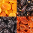 Stock Photo: Set of dried fruits