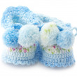 Baby&#039;s bootees - Foto Stock