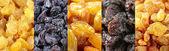 Set of assorted raisins — Stock Photo