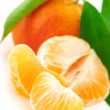 Royalty-Free Stock Photo: Fresh tangerines close-up