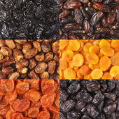 Set of dried fruits — 图库照片