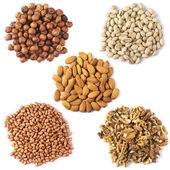 Set of dried nuts — Stock Photo