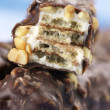 Stock Photo: Chocolate waffles close-up