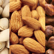 Stock Photo: Set of dried nuts