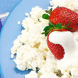 Stock Photo: Cottage cheese with strawberries