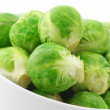 Brussels sprouts in bowl - Stock Photo