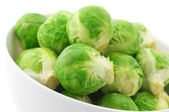 Brussels sprouts in bowl — Stock Photo