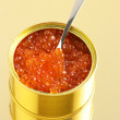 Canned caviar - Stock Photo