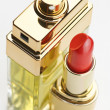Lipstick and perfume - Stock Photo