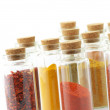 Spices in bottles - Stock Photo