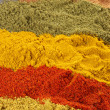 Assorted powder spices - Stock Photo