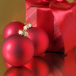 Christmas decorations and gift — Stock Photo #2877867