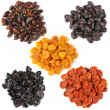 Set of dried fruits — Stockfoto