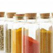 Spices in bottles — Foto de Stock