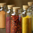 Stock Photo: Spices in bottles