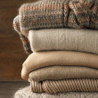 Stack of knitted sweaters — Stock Photo #39626011