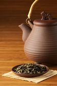 Tea and teapot — Stock Photo