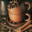 Coffee still life — Stock Photo