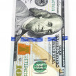Stock Photo: New one hundred dollar banknote