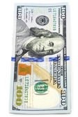 New one hundred dollar banknote — Stock Photo