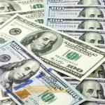 One hundred dollar bills — Stock Photo