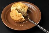 Broken cupcake — Stock Photo