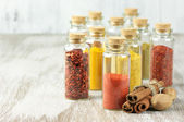 Spices in bottles — Stock Photo