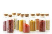Kryddor i flaskor — Stockfoto