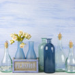 Decorative bottles set — Stock Photo