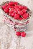 Radish in basket — Stock Photo