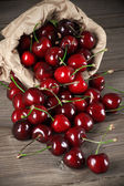Spilled cherries — Stock Photo