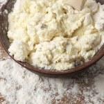 Cooking: kneading dough — Stock Photo