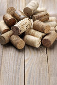 Assorted wine corks — 图库照片