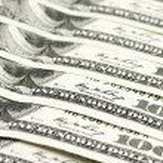 Close-up of dollar bills — Stock Photo #48831097