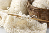 Knitting and yarn — Stockfoto