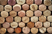 Assorted wine corks — Stockfoto