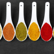 Assorted powder spices — Stock Photo #48921475