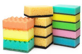 Assorted sponges — Stock Photo